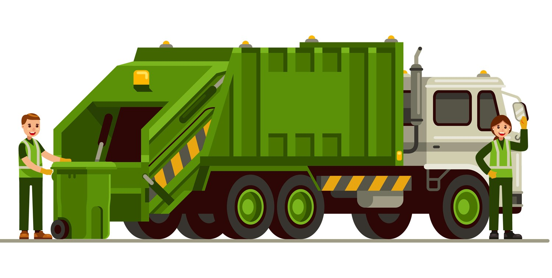 Taking waste using Truck