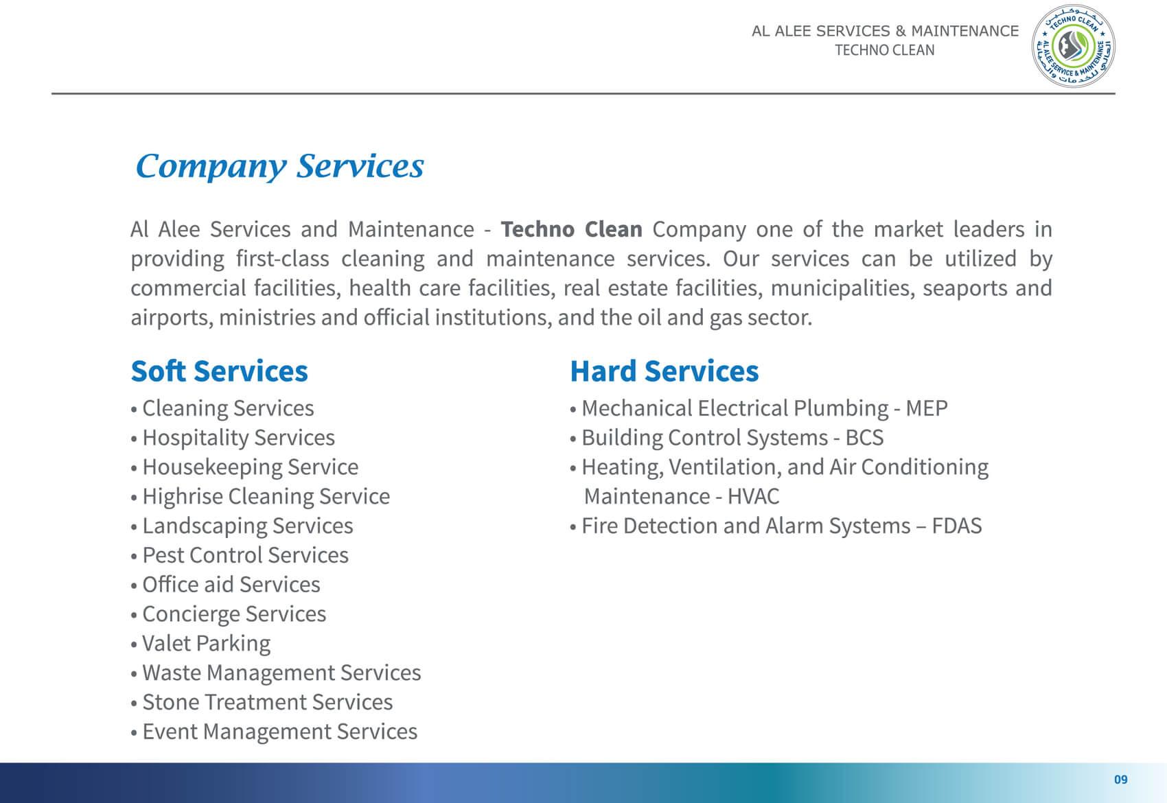 Al Alee Company Profile 10th page