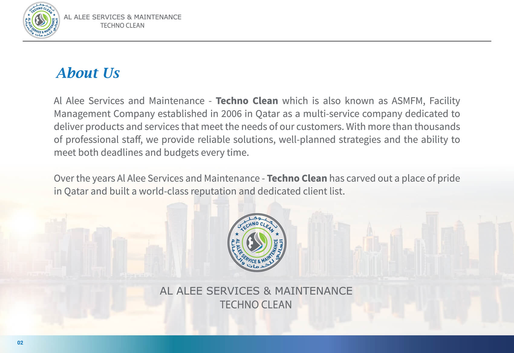 Al Alee Company Profile 3rd page