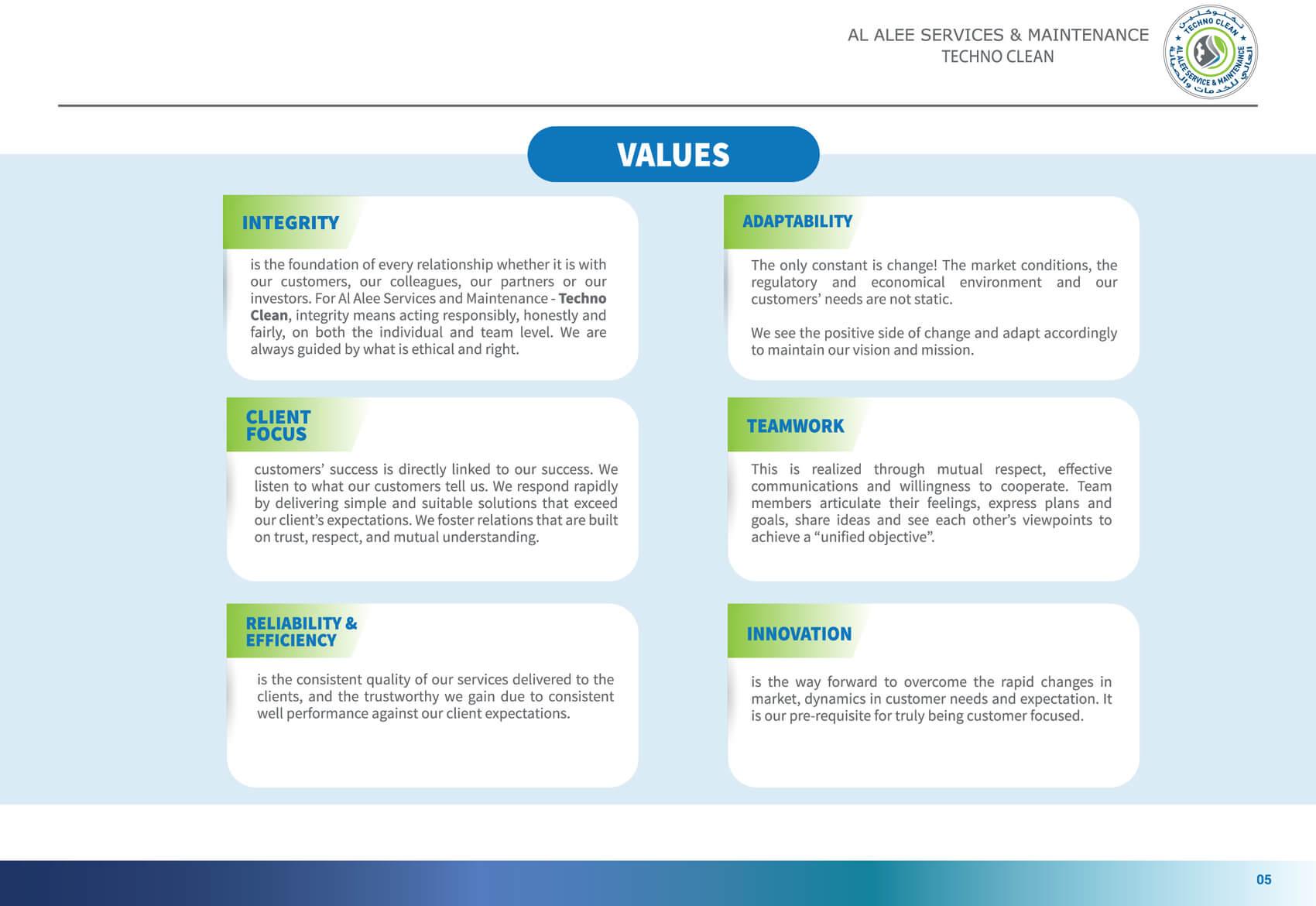 Al Alee Company Profile 6th page